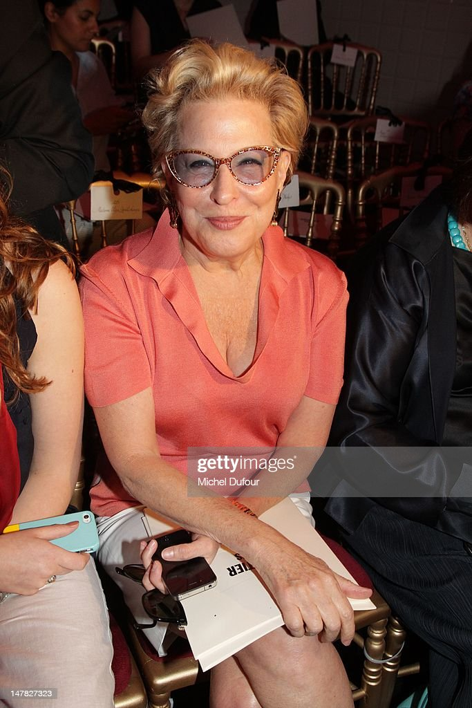 <a gi-track='captionPersonalityLinkClicked' href=/galleries/search?phrase=Bette+Midler&family=editorial&specificpeople=201551 ng-click='$event.stopPropagation()'>Bette Midler</a> attends the Jean-Paul Gaultier Haute-Couture Show as part of Paris Fashion Week Fall / Winter 2013 on July 4, 2012 in Paris, France.