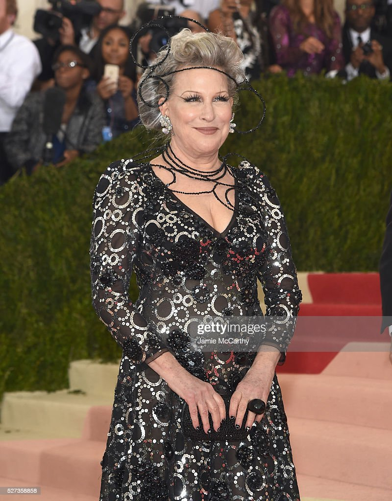 Bette Midler attends the 'Manus x Machina: Fashion In An Age Of Technology' Costume Institute Gala at Metropolitan Museum of Art on May 2, 2016 in New York City.