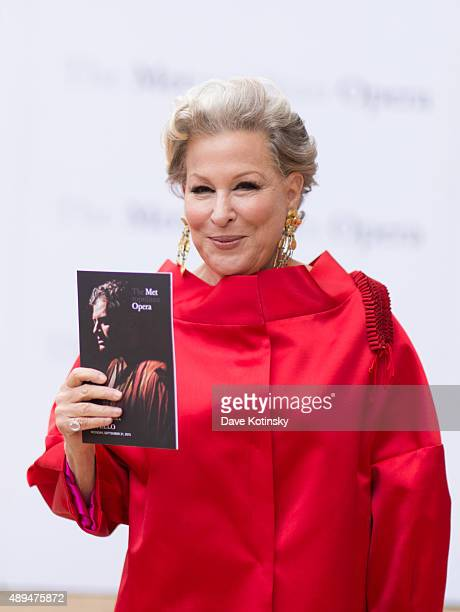 Bette Midler attends the Metropolitan Opera 20152016 season opening night of 'Otello' at The Metropolitan Opera House on September 21 2015 in New...