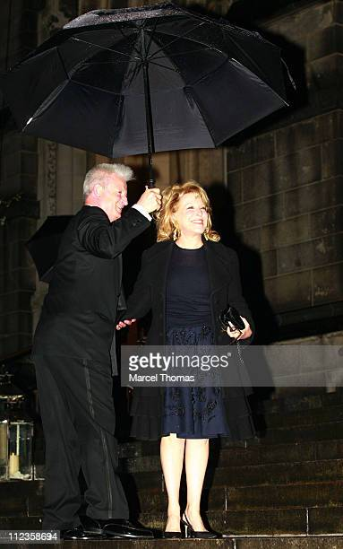 Bette Midler during Elton John's 60th Birthday Party at St John the Divine Church in New York City New York United States