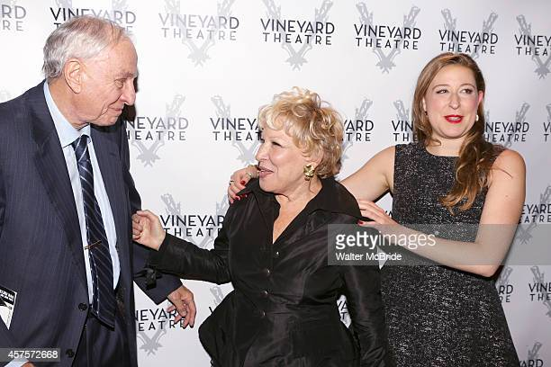 Bette Midler Gary Marshall and Sophie von Haselberg attend the OffBroadway opening Night Performance After Party for 'Billy Ray' at the Vineyard...