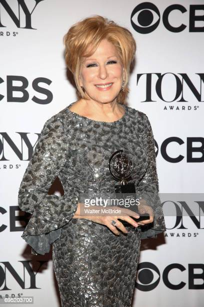Bette Midler poses at the 71st Annual Tony Awards in the press room at Radio City Music Hall on June 11 2017 in New York City