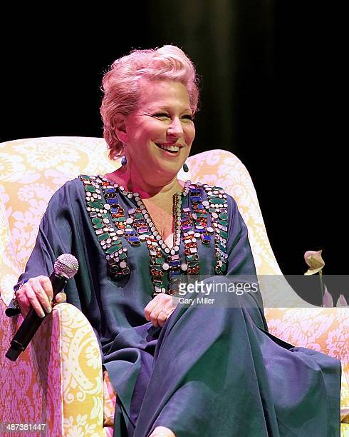 Bette Midler speaks during the Brilliant Lecture Series' 'A Conversation With Bette Midler' at Wortham Center Brown Theater on April 29 2014 in...