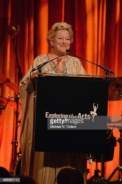 Bette Midler speaks onstage at the 8th Annual Exploring The Arts Gala on September 29 2014 in New York City