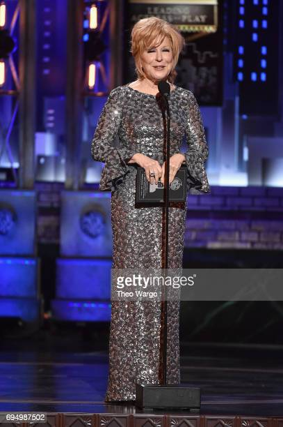 Bette Midler speaks onstage during the 2017 Tony Awards at Radio City Music Hall on June 11 2017 in New York City