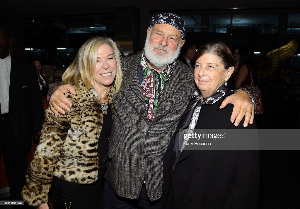 Bette-Ann Gwathmey, Bruce Weber and Nan Bush arrive as Ralph Lauren Presents Exclusive Screening Of Hitchcock's To Catch A Thief Celebrating The Princess Grace Foundation at MoMA on October 28, 2013 in New York City.