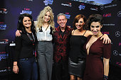Betthany Watson and Elvis Duran attend Z100's Jingle Ball 2015 at Madison Square Garden on December 11 2015 in New York City