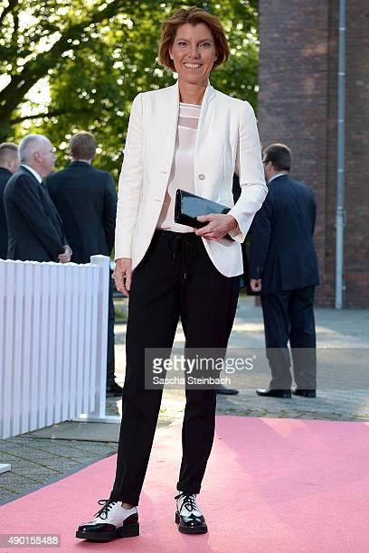 Bettina Boettinger arrives for the 'Steiger Award 2015' at colliery Hansemann on September 26 2015 in Dortmund Germany