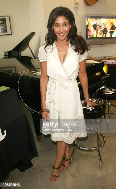 Bettina Bush during Music By Design Benefiting VH1 Save The Music Foundation at Gibson/Baldwim Showroom in Beverly Hills California United States