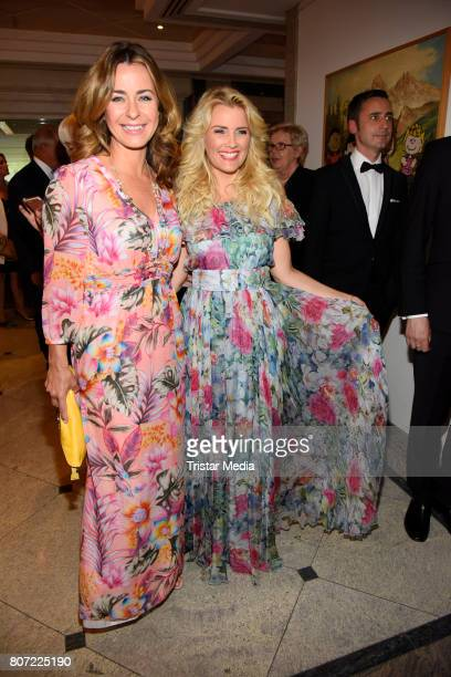 Bettina Cramer and Jennifer Knaeble attend the 14th SPA Diamond Award at Hotel Palace Berlin on July 3 2017 in Berlin Germany