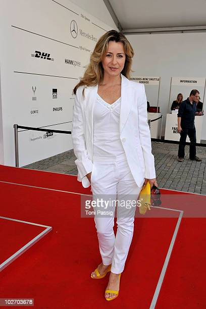 Bettina Cramer arrives at the Laurel Show during the Mercedes Benz Fashion Week Spring/Summer 2011 at Bebelplatz on July 8 2010 in Berlin Germany