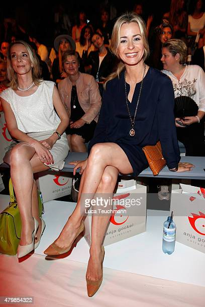 Bettina Cramer attends the Anja Gockel show during the MercedesBenz Fashion Week Berlin Spring/Summer 2016 at Brandenburg Gate on July 8 2015 in...