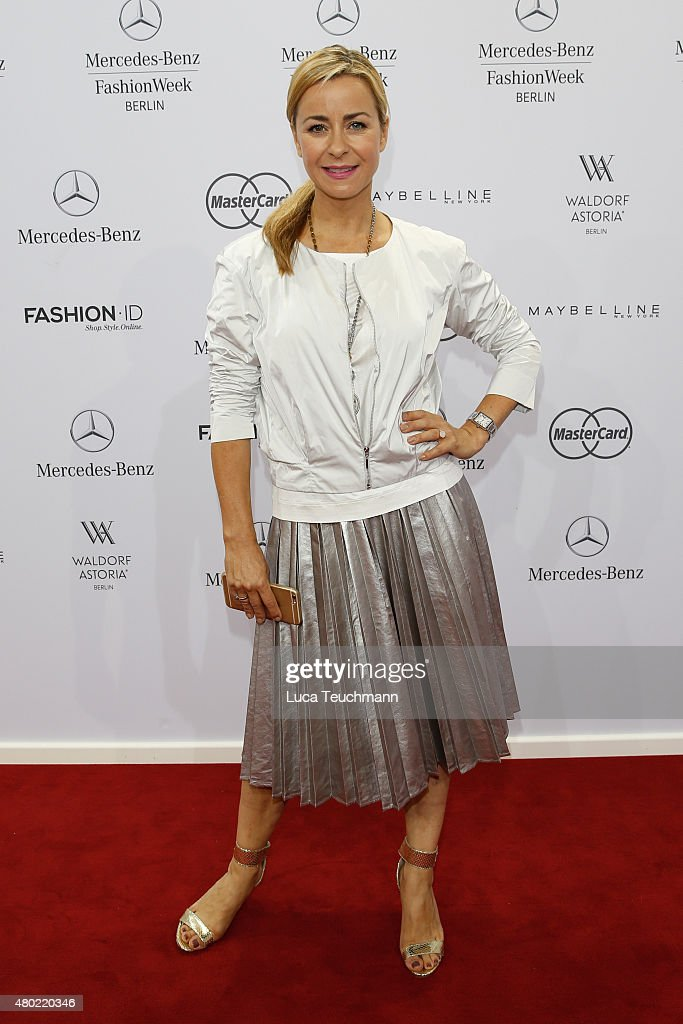 Bettina Cramer attends the Ewa Herzog show during the Mercedes-Benz Fashion Week Berlin Spring/Summer 2016 at Brandenburg Gate on July 10, 2015 in Berlin, Germany.