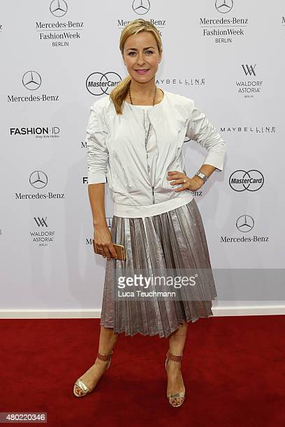 Bettina Cramer attends the Ewa Herzog show during the MercedesBenz Fashion Week Berlin Spring/Summer 2016 at Brandenburg Gate on July 10 2015 in...