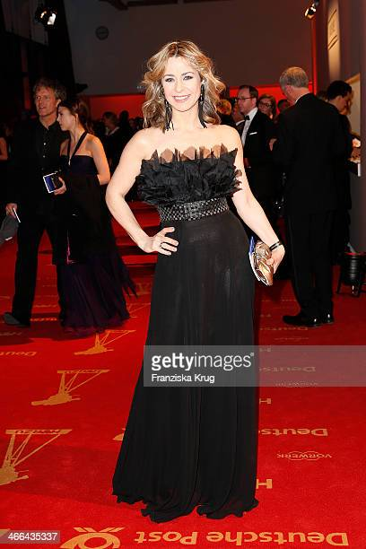Bettina Cramer attends the Goldene Kamera 2014 at Tempelhof Airport on February 01 2014 in Berlin Germany