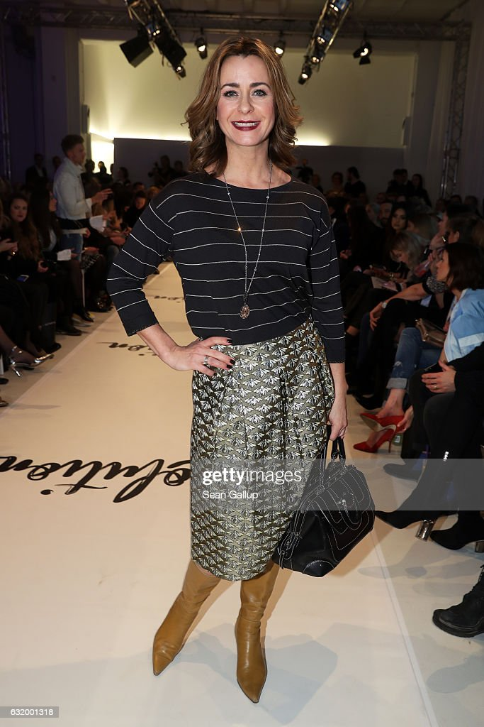 Bettina Cramer attends the Marcel Ostertag show during the Mercedes-Benz Fashion Week Berlin A/W 2017 at on January 18, 2017 in Berlin, Germany.