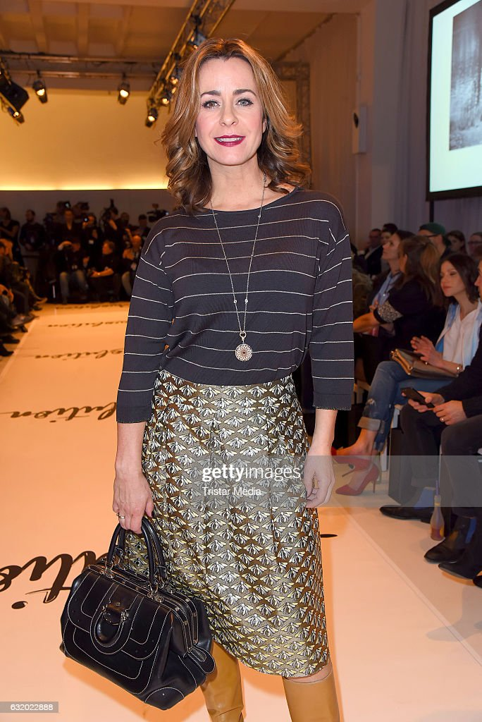 Bettina Cramer attends the Marcel Ostertag show during the Mercedes-Benz Fashion Week Berlin A/W 2017 at Delight Rental Studios on January 18, 2017 in Berlin, Germany.