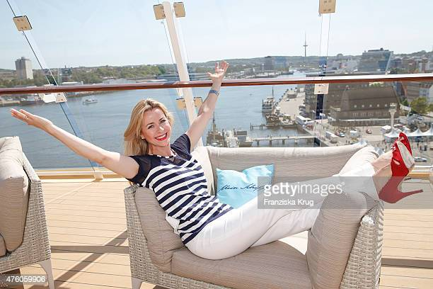 Bettina Cramer during the naming ceremony of the cruise ship 'Mein Schiff 4' on June 5 2015 in Kiel Germany