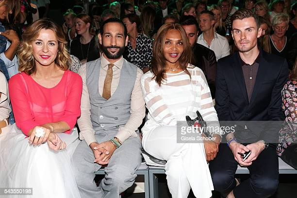 Bettina Cramer Massimo Sinato Valerie Campbell and PaulHenry Duval attend the Minx by Eva Lutz show during the MercedesBenz Fashion Week Berlin...
