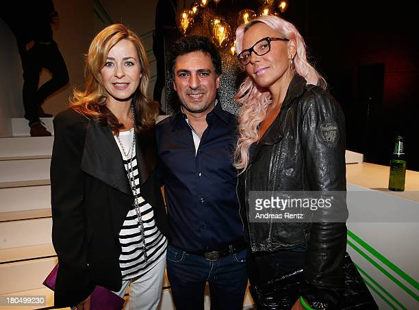Bettina Cramer Shan Rahimkhan and Natascha Ochsenknecht attend No1 TRUE BERLIN BY Shan Rahimkhan ghd on September 13 2013 in Berlin Germany