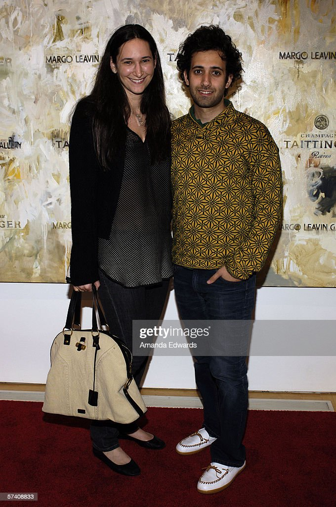 Bettina Korek and Alex Israel attend the opening of artist Delia Brown's 'Double Self-Portraits And Step & Repeat' exhibition at the Margo Leavin Gallery on April 20, 2006 in West Hollywood, California.