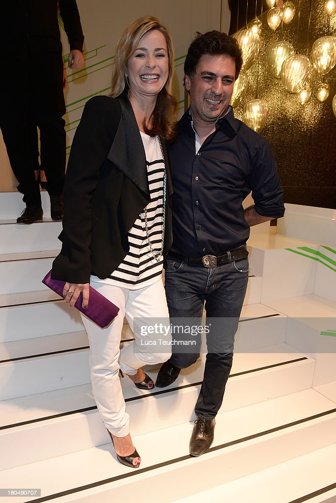 Bettina Kramer and Shan Rahimkhan attend TRUE BERLIN No. 1 By Shan Rahimkhan & Ghd on September 13, 2013 in Berlin, Germany.