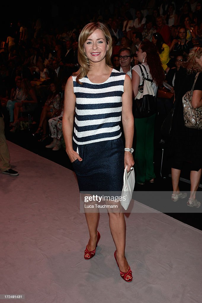 Bettina Kramer attends the Riani Show during Mercedes-Benz Fashion Week Spring/Summer 2014 at Brandenburg Gate on July 2, 2013 in Berlin, Germany.