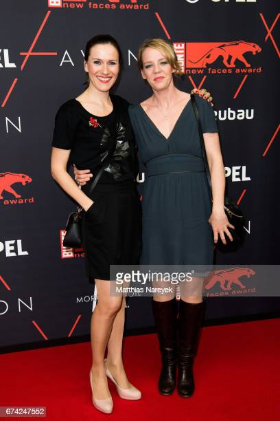 Bettina Lamprecht and Katrin Wichmann attend the New Faces Award Film at Haus Ungarn on April 27 2017 in Berlin Germany