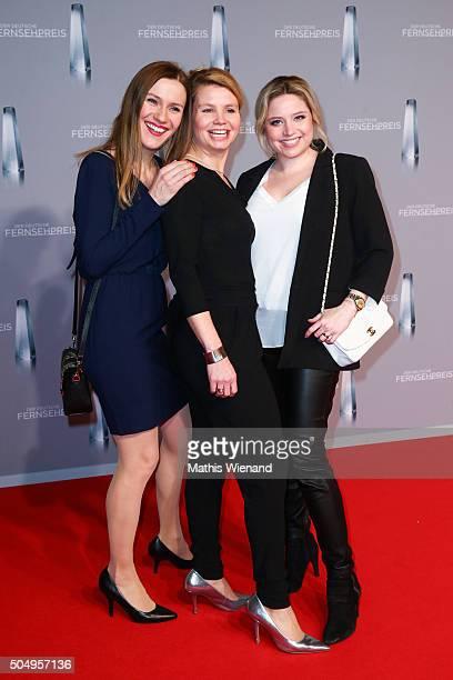 Bettina Lamprecht Annette Frier and Caroline Frier attends the German Television Award at Rheinterrasse on January 13 2016 in Duesseldorf Germany