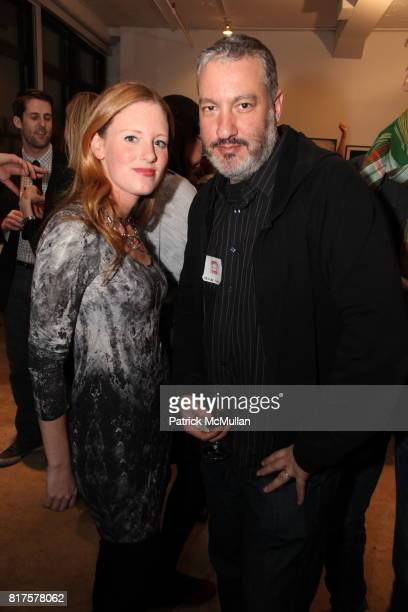 Bettina Prentice and Spencer Tunick attend SLIDE LUCK Auction Fundraiser Hosted By Patrick McMullan DJ Spooky at Sandbox Studio on December 8 2010 in...