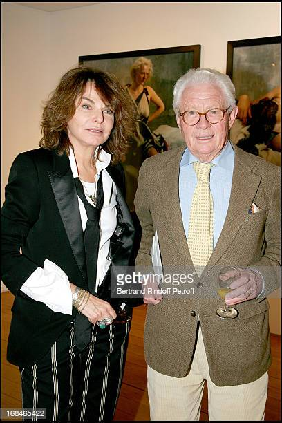 Bettina Rheims and David Hamilton at Opening Of The Exhibition 'Bettina Rheims Heroes' In Paris