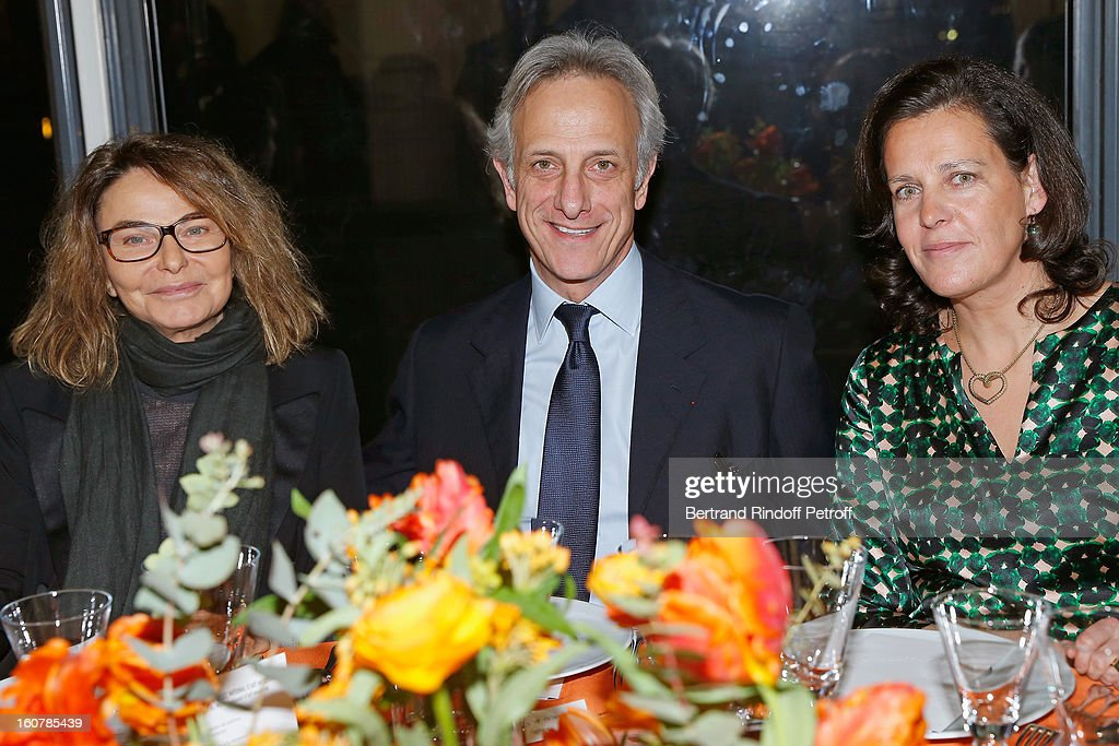 Bettina Rheims, Philippe de Ricqles and Cecile Brezet attend the 8th Annual Dinner of the 'Societe Des Amis Du Musee D'Art Moderne' at Centre Pompidou on February 5, 2013 in Paris, France.