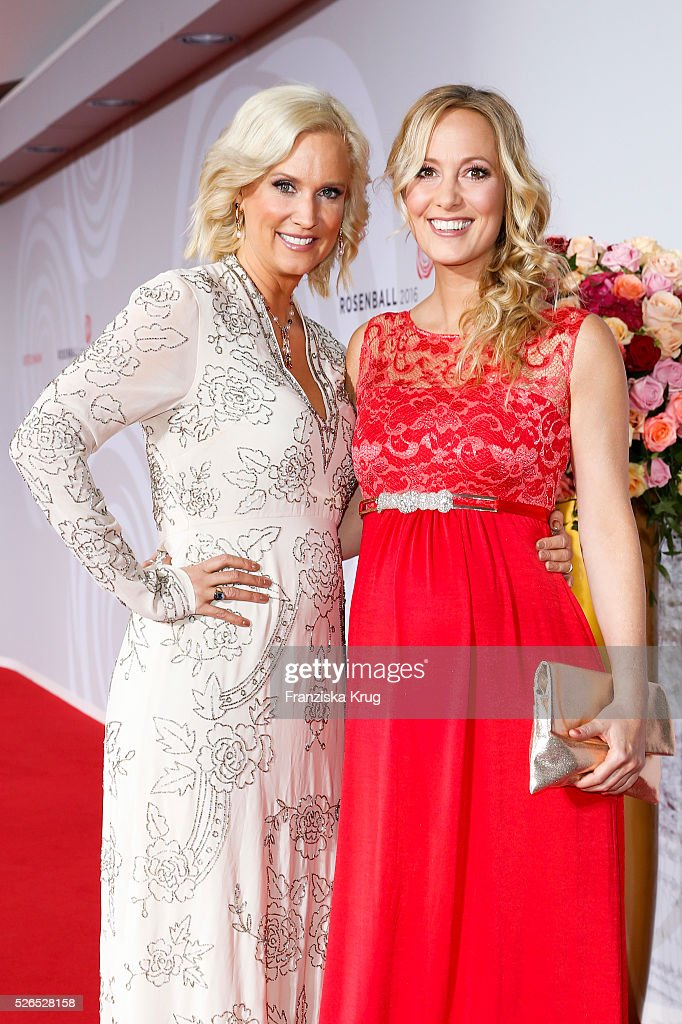 Bettina von Schimmelmann and Angela Finger-Erben attend the Rosenball 2016 on April 30 in Berlin, Germany.