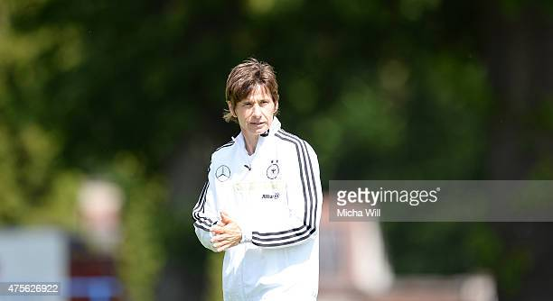 Bettina Wiegmann head coach of U15 Germany looks on during the U15 Girl's International between Czech Republic and U15 Girl's Germany at Mestsky...