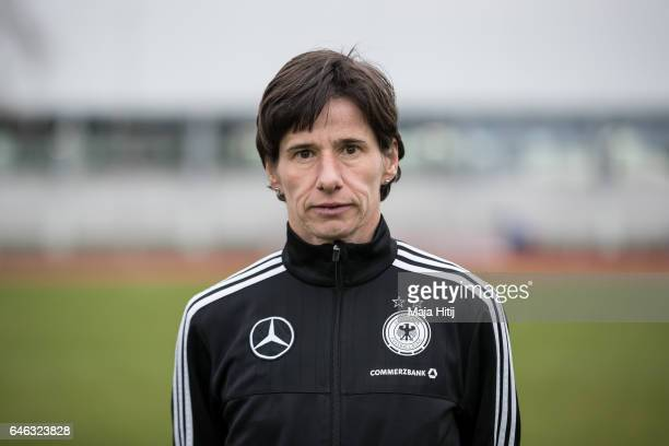 Bettina Wiegmann poses during the Germany Women's U19 team presentation on February 28 2017 in Duesseldorf Germany