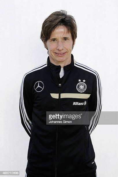 Bettina Wiegmann poses during the team presentation of U19 Women of Germany on March 4 2015 in La Manga Spain