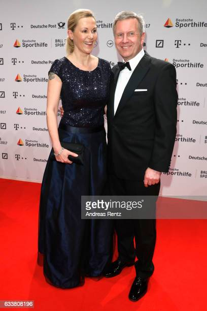 Bettina Wulff and Christian Wulff attend the German Sports Gala 'Ball des Sports 2017' on February 4 2017 in Wiesbaden Germany