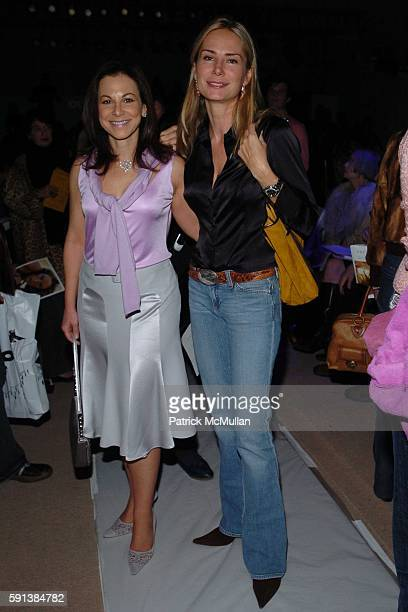 Bettina Zilkha and Valesca Guerrand Hermes attend Tuleh Fall 2005 Fashion Show at The Plaza at Bryant Park on February 6 2005 in New York City
