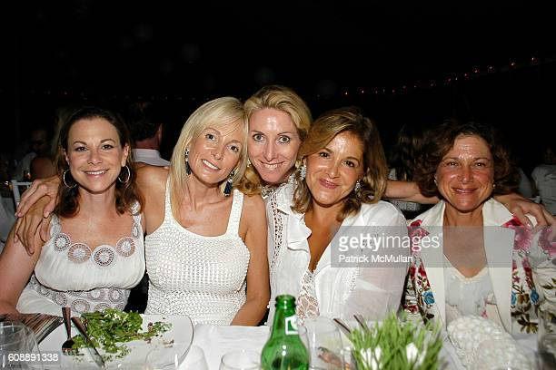 Bettina Zilkha Pamela Gross Finkelstein Sacha McNaughton Leila Heller and Donna Zilkha attend ULLA KEVIN PARKER Host White End Of Summer Party at...