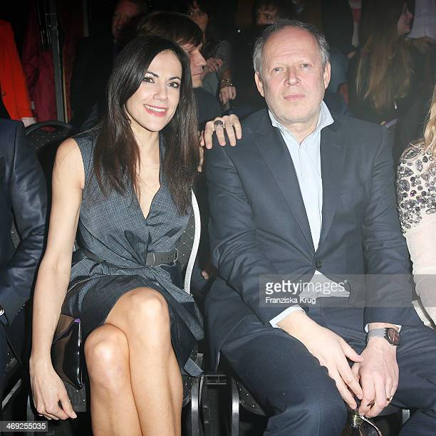 Bettina Zimmerann and Axel Milberg attend the 99FireFilmsAward 2014 at Admiralspalast on February 13 2014 in Berlin Germany