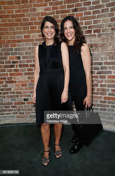 Bettina Zimmermann and Dorothee Schumacher attend the Schumacher show during the MercedesBenz Fashion Week Spring/Summer 2015 at Sankt Elisabeth...