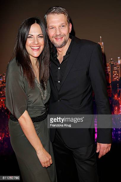 Bettina Zimmermann and Kai Wiesinger attend the 99FireFilmAward 2016 at Admiralspalast on February 18 2016 in Berlin Germany