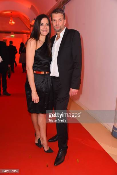 Bettina Zimmermann and Kai Wiesinger attend the 99FireFilmsAward at Admiralspalast on February 16 2017 in Berlin Germany