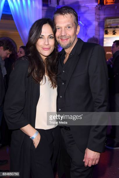 Bettina Zimmermann and Kai Wiesinger attend the Blue Hour Reception hosted by ARD during the 67th Berlinale International Film Festival Berlin on...