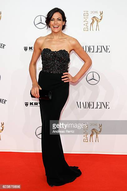 Bettina Zimmermann arrives at the Bambi Awards 2016 at Stage Theater on November 17 2016 in Berlin Germany
