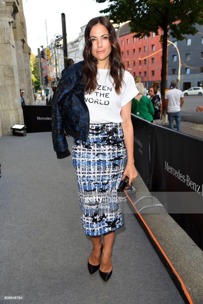 Bettina Zimmermann attends the Dorothee Schumacher Show during the Mercedes-Benz Fashion Week Berlin Spring/Summer 2018 at Kaufhaus Jandorf on July 7, 2017 in Berlin, Germany.