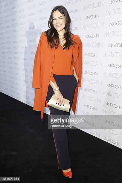 Bettina Zimmermann attends the Marc Cain fashion show A/W 2017 at Deutsche Telekom representation on January 17 2017 in Berlin Germany