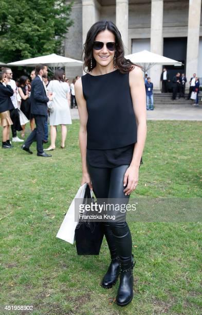 Bettina Zimmermann attends the Schumacher show during the MercedesBenz Fashion Week Spring/Summer 2015 at Sankt Elisabeth Kirche on July 10 2014 in...