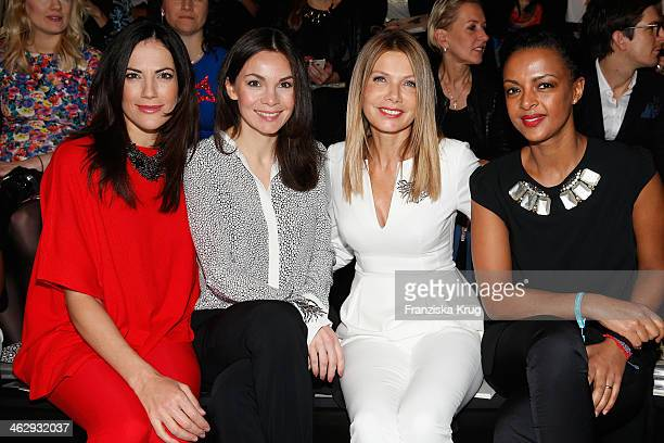 Bettina Zimmermann Nadine Warmuth Ursula Karven and Dennenesch Zoude attend the Schumacher show during MercedesBenz Fashion Week Autumn/Winter...