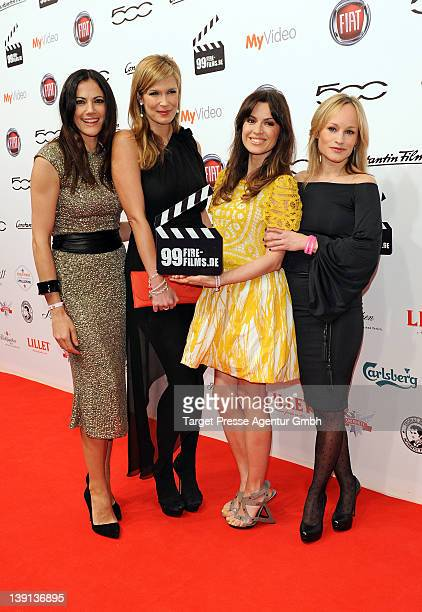 Bettina Zimmermann Verena Wriedt Natalia Avelon and Dorkas Kiefer attend the 99Fire Films Awards at Admiralspalast on February 16 2012 in Berlin...